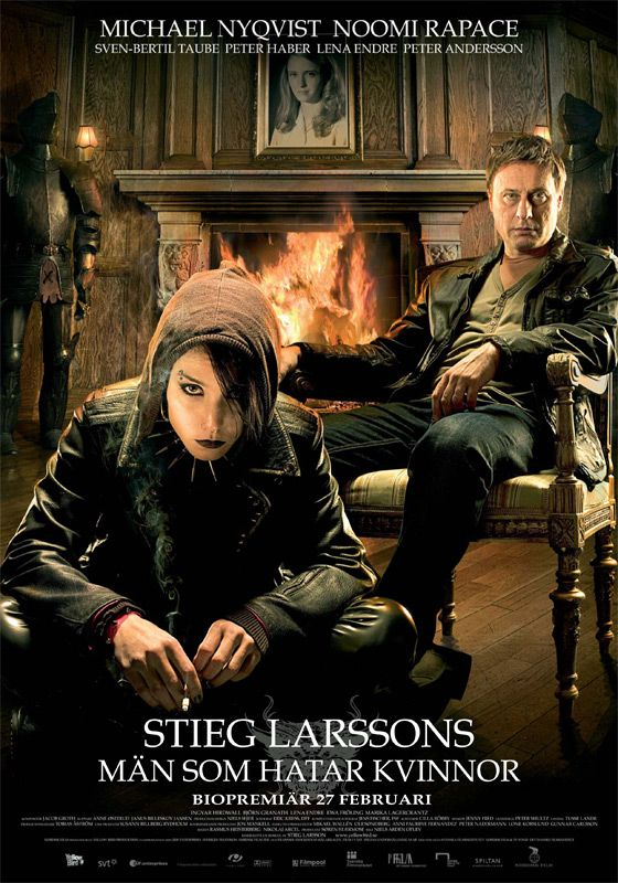 """Me gustaron los libros y la adaptación está muy lograda, este es el poster de """"Los hombres que no amaban a las mujeres"""""""