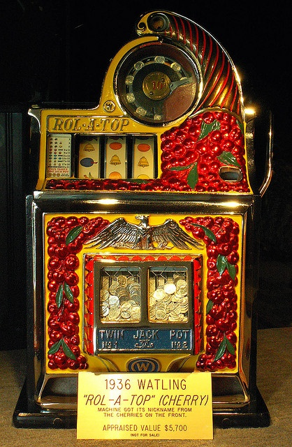 "1936 Watling ""Rol-a-top"" Cherry, Antique Slot Machine"