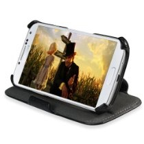 MiniSuit Slim Profile Case Cover for Samsung Galaxy S4 Smart Phone (Black PU Leather) $12.95