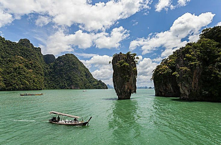 Ko Tapu is a 20 m tall islet in front of the Khao Phing Kan islands, in the Phang Nga Bay, in Thailand. The island belongs to the Ao Phang Nga National Park and since 1974 is also known as James Bond Island, because the James Bond movie The Man with the Golden Gun was filmed there.
