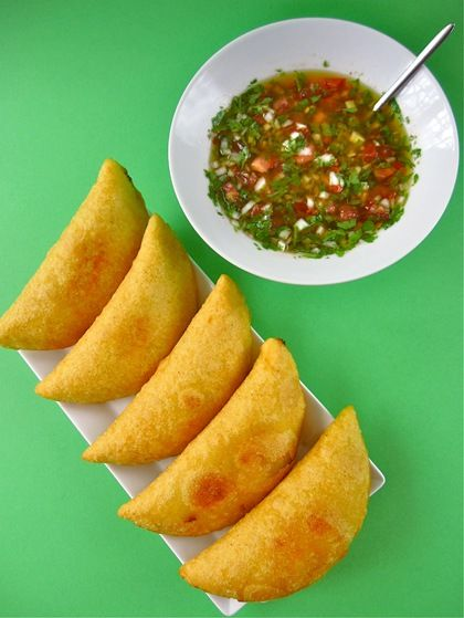 """I lived in Colombia. This tastes like home. Liliana's comforting Colombian """"empanadas"""""""