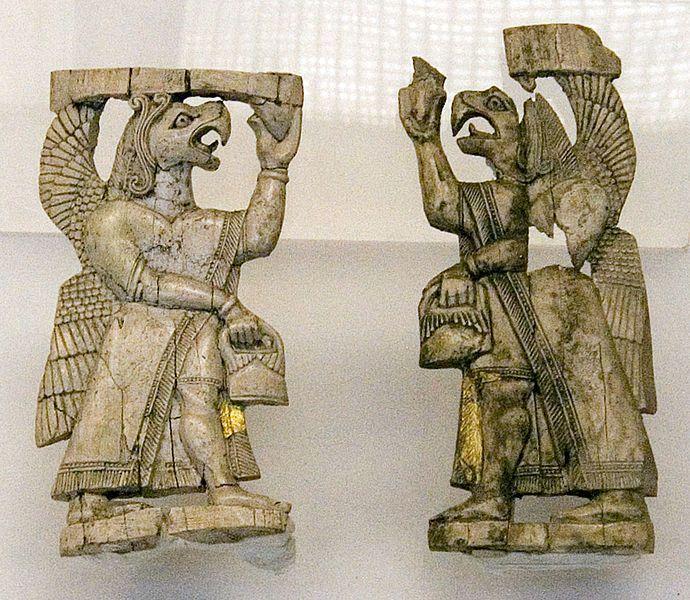 Ivory carving from Urartu, museum of    Aanatolian civilisation, Ankara, Turkey