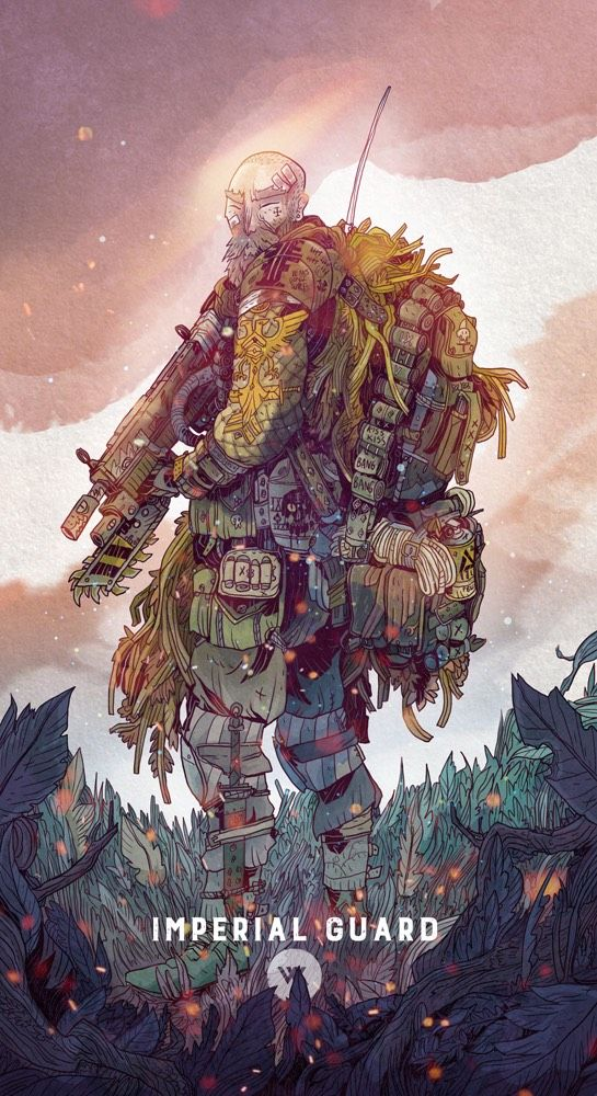 """chamonkee: """" Here is the guardsman from the dark heresy game I'm in. The idea is that he's the grizzled jungle veteran. """""""