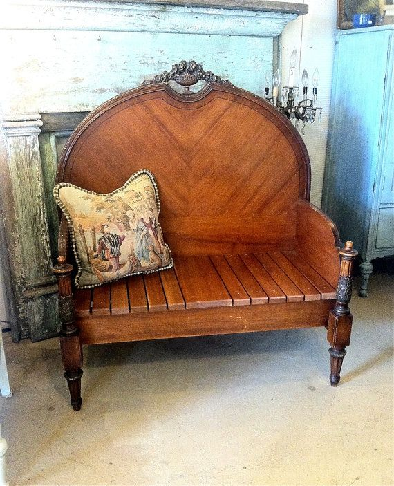 Antique/Vintage Bench, Settee, Doggie Bed -- Reconstructed French-Style Bed