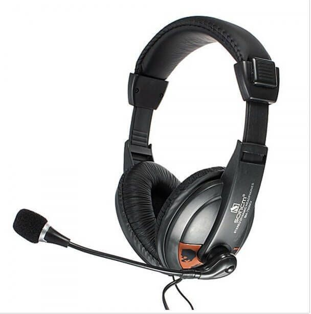 Headset With Microphone 3.5mm Headphone For PC Laptop High Quality New Black #1