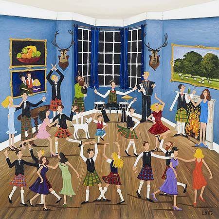 Louise Braithwaite - Naive Artist  Scottish Dancing