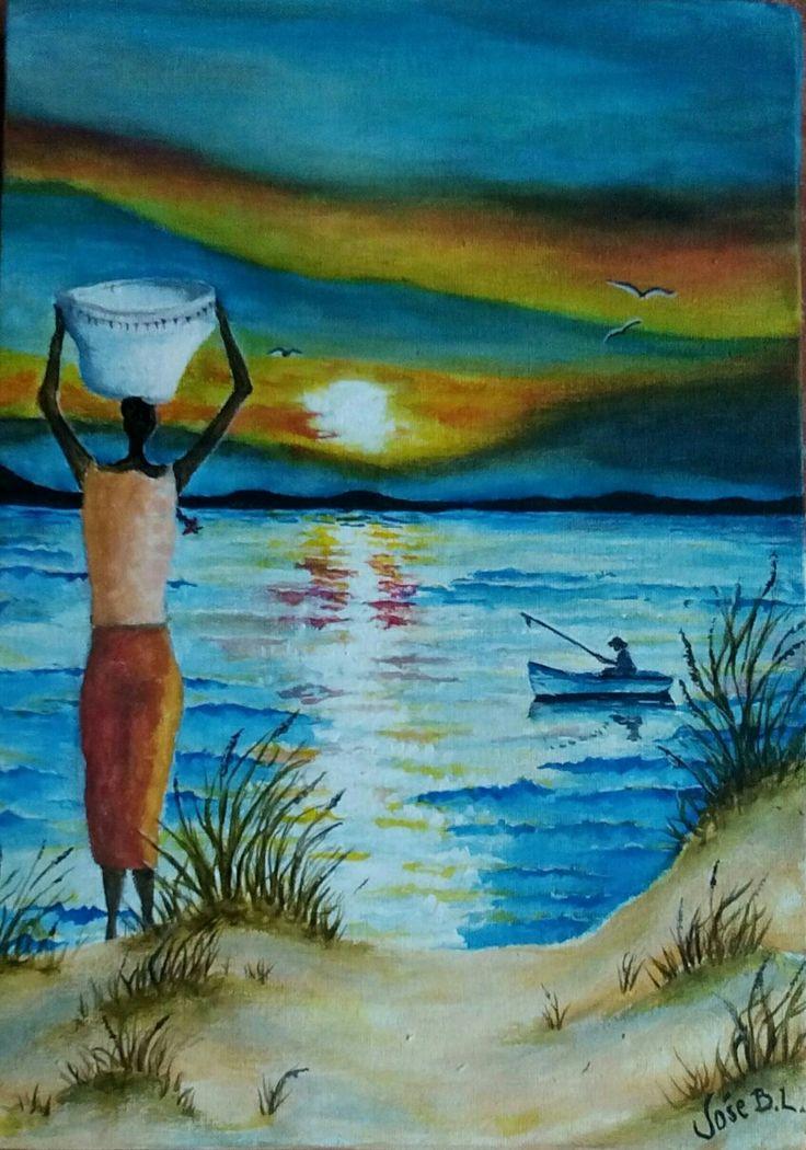 """ Beautiful simple things "" Acrylic on canvas 30x22 cm Author: José M. Blanco Lorenzo"