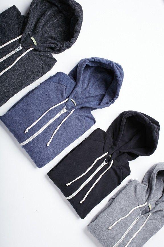 Alternative Rocky Eco-Fleece Zip Hoodies