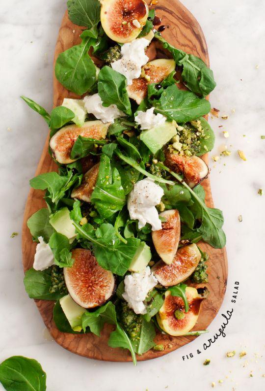 Fig and Arugula Salad w/ Pistachio Pesto