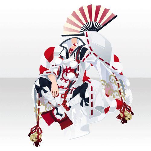 八咫鴉の胡座装束B 白(イベント限定)| ジークレストゲームフェスタ 限定カラー交換