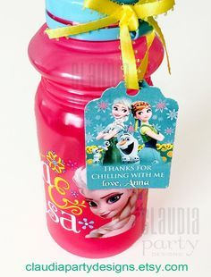 Adorable Frozen Fever personalized Thank you Tags - Check this and more decor at ClaudiaPartyDesigns.com #frozen #fever #tags #thankyoutags #tags #personalized #decor #party #birthday #frozenfeverparty #etsy #thankyou #favortags #favor #tags #anna #elsa #olaf