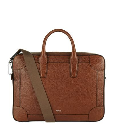 MULBERRY Grained Leather Briefcase. #mulberry #bags #canvas #leather #accessories #shoulder bags #hand bags #pouch #