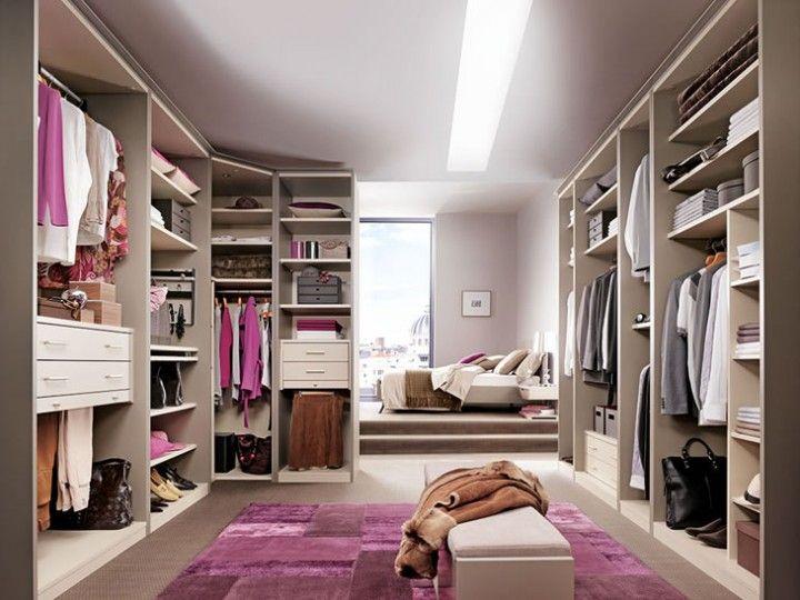 Modern Walk in wardrobe .
