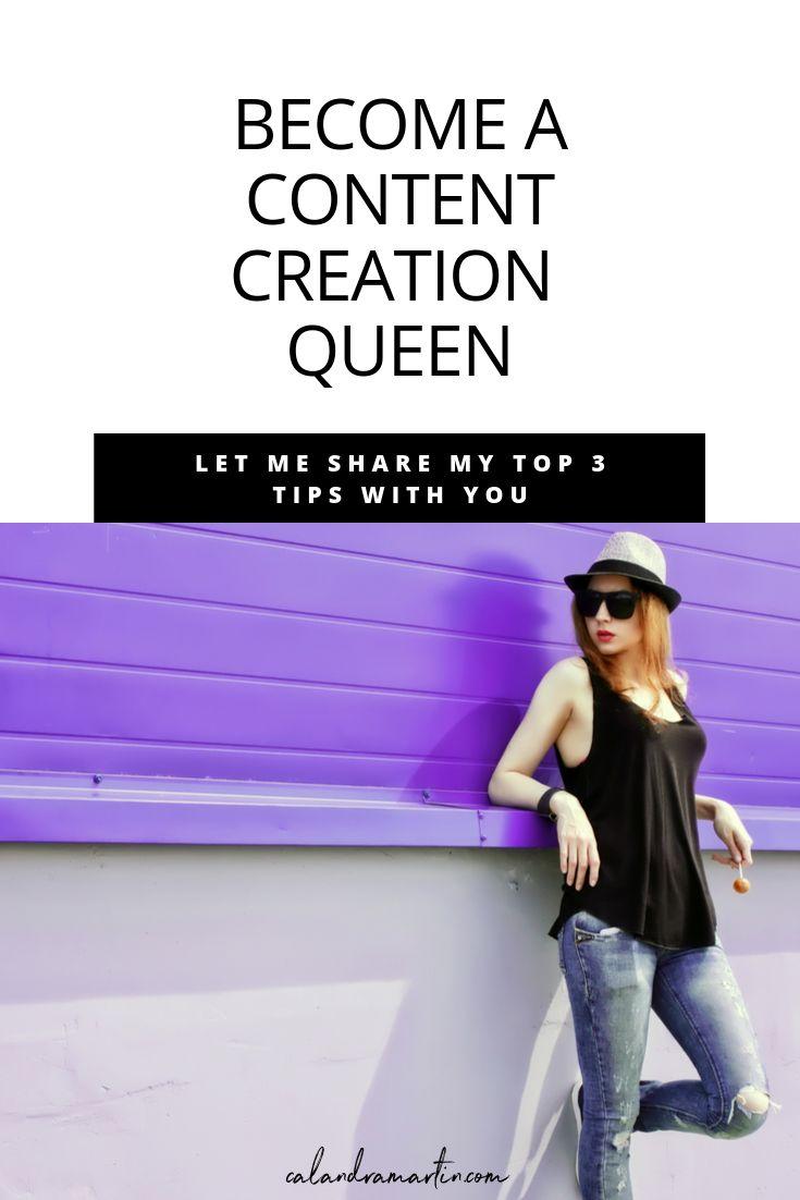 Werden Sie eine Content Creation Queen | Von zu Hause aus arbeiten | Organisches Geschäftswachstum | Website-Verkehr