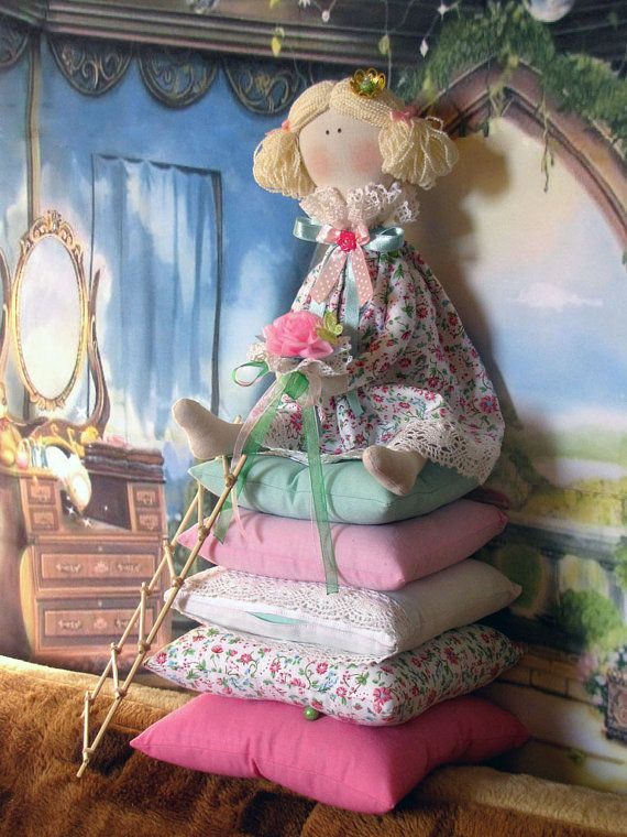 Tilda Doll The Princess and the Pea Dolls Textile by LightDolls, $38.00