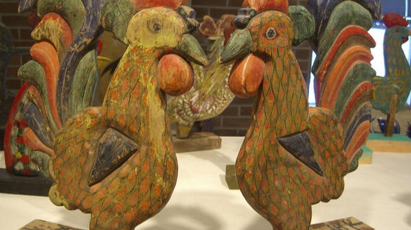 Chicken Art Museum - Korean culture chickens are though to be messengers between heaven and earth.