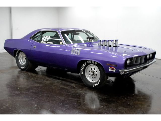 1971 Plymouth Vintage Cuda Race Car 426 Hemi Hilborn Injected