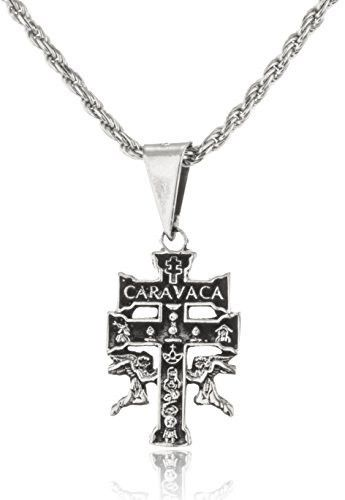 24 best caravaca cross jewelry meaning heartfelt peace gift images 925 sterling silver caravaca cross with angels and an 18 inch rope chain necklace mozeypictures Choice Image