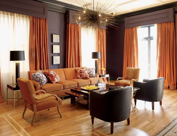 Brown Orange Interior Http://www.designbuildideas.eu/practical Color. Grey  And Orange Living RoomOrange ... Part 80