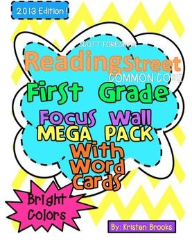 Reading Street Focus Wall BUNDLED MEGA Pack (First Grade) Focus Wall Headers AND word cards for amazing words, sight words, and spelling words! :)