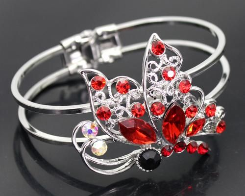 Red Butterfly Bangle