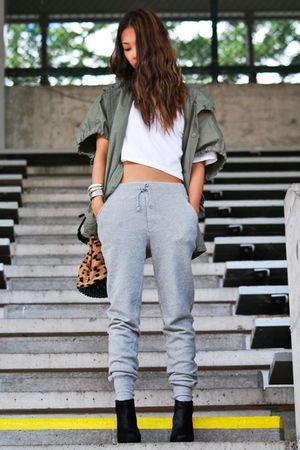 Street Fashion: How to Wear sweatpants in a cute way
