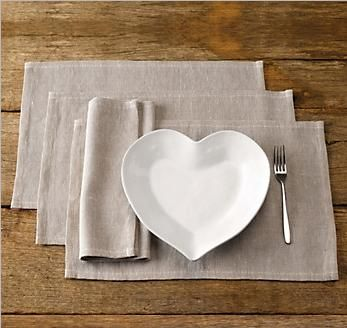 Natural looking basket weave place mats from the White Company.  Do you like this continental look?  http://www.pricerunner.co.uk/pli/357-553655863/Home-Accessories/The-White-Company-Basket-weave-place-mats-Compare-Prices#search=basket+weave+place+mats&sort=4&q=basket+weave+place+mats