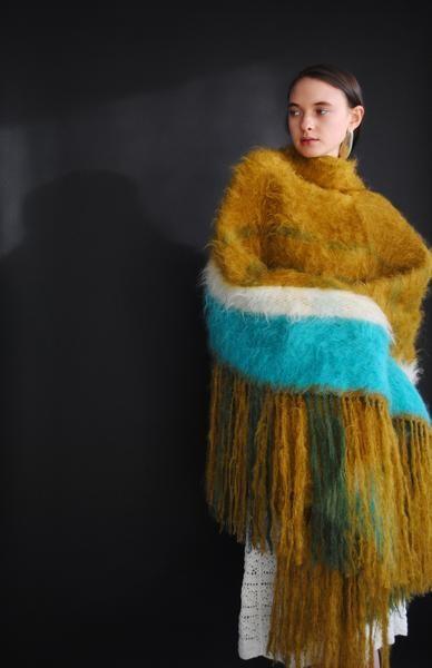 Brushed Mohair Woven Blanket