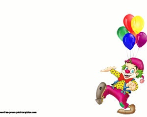 This funny clown design has been created in order you can use for your PPT presentations