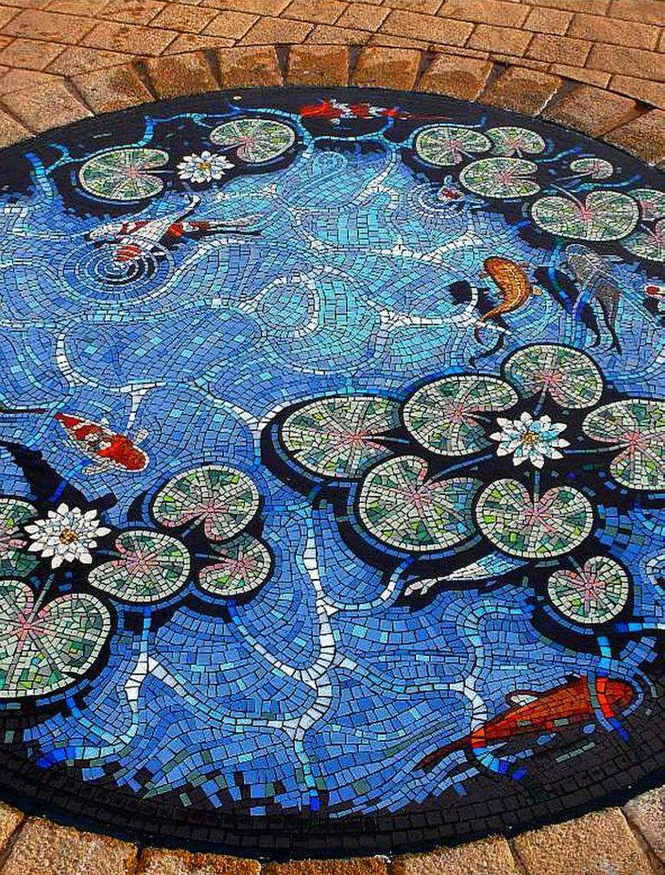 #mosaic pond, beautiful!