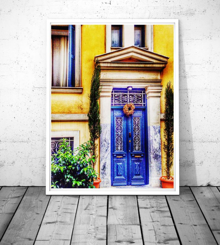 Blue Door Photography, Greece wall art, Plaka-Anafiotika wall decor, mediterranean decor, door print, Fine art Giclee or Digital Download by S4StarSbySiSSy on Etsy https://www.etsy.com/ca/listing/279326850/blue-door-photography-greece-wall-art