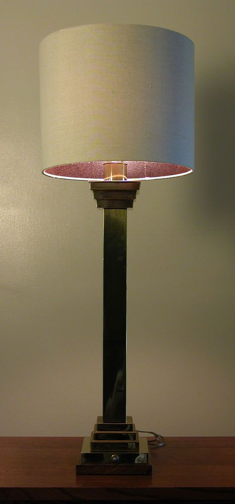 Vintage Art Deco Skyscraper Brass Living Room Bedroom Table Lamp - Stunning #Unknown #ArtDeco