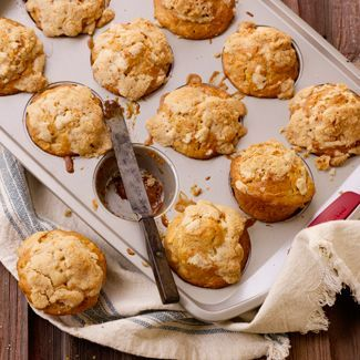 Apple Cinnamon Muffins with Caramel Centers — David Venables Recipes — QVC Recipes — Kitchen & Food — QVC.com