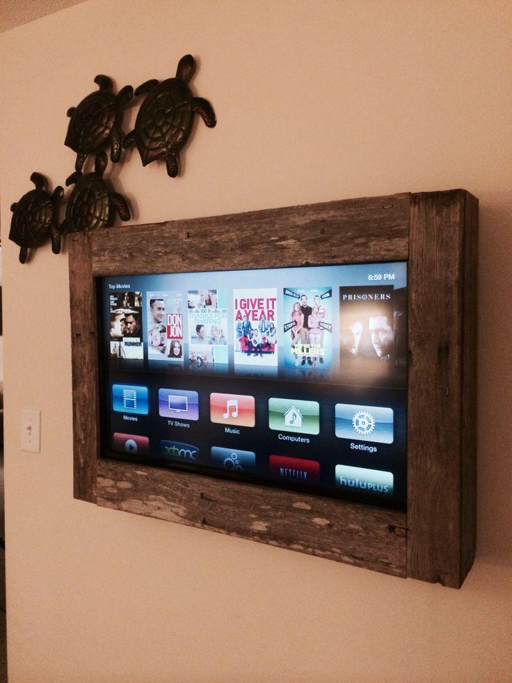 marco de madera para tele