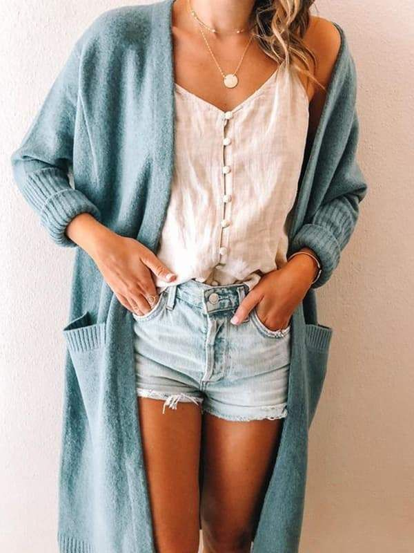 Free Shipping! Chellysun Cozy Long Knit Cardigan Sweater knits outfits for fall and winter boyfriend style for women