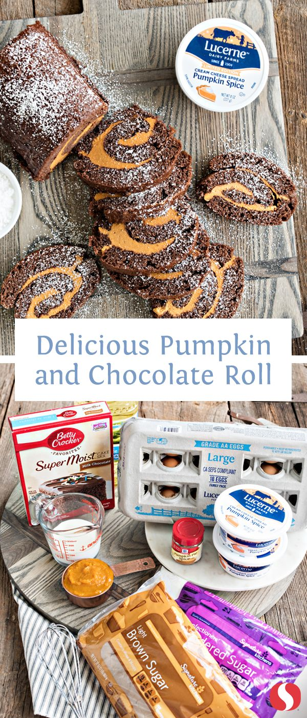 Dazzle friends this fall season! Celebrate with this easy-to-make Pumpkin and Chocolate Roll recipe.