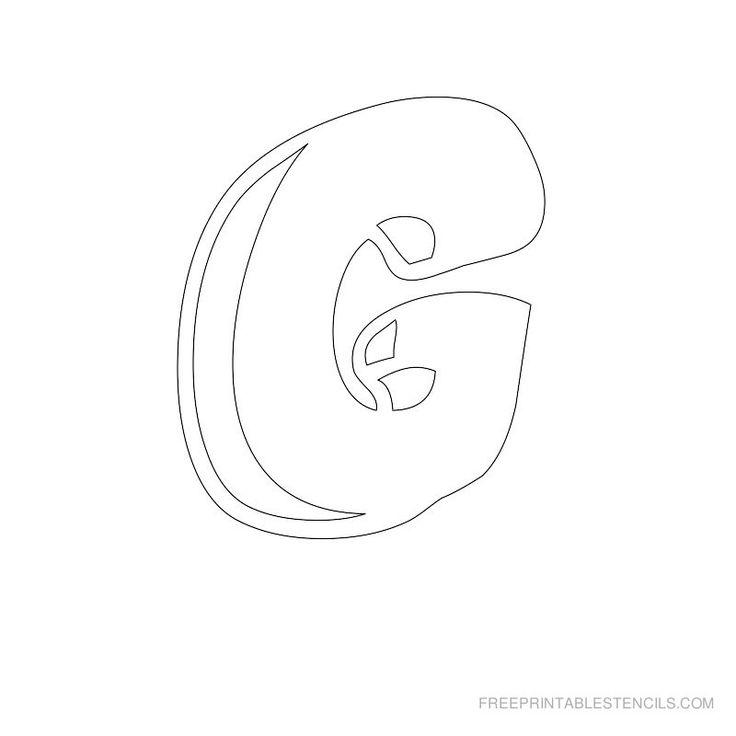 Printable Bubble Letter Stencils | Free Printable Stencils Com