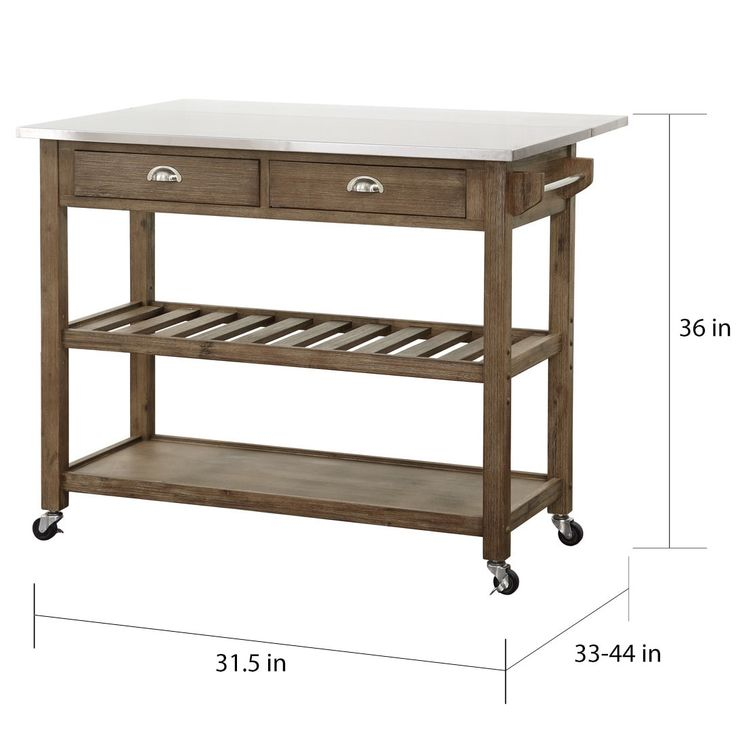 Best Quality Kitchen Carts With Drop Leaf