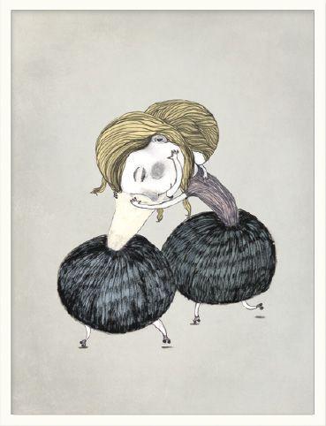 Inrammet bilde fra Bob Noon, illustrasjon av Stine Illum, pris 1120,-   Norway Designs