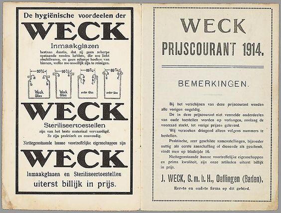 Weck inmaakpotten 1914