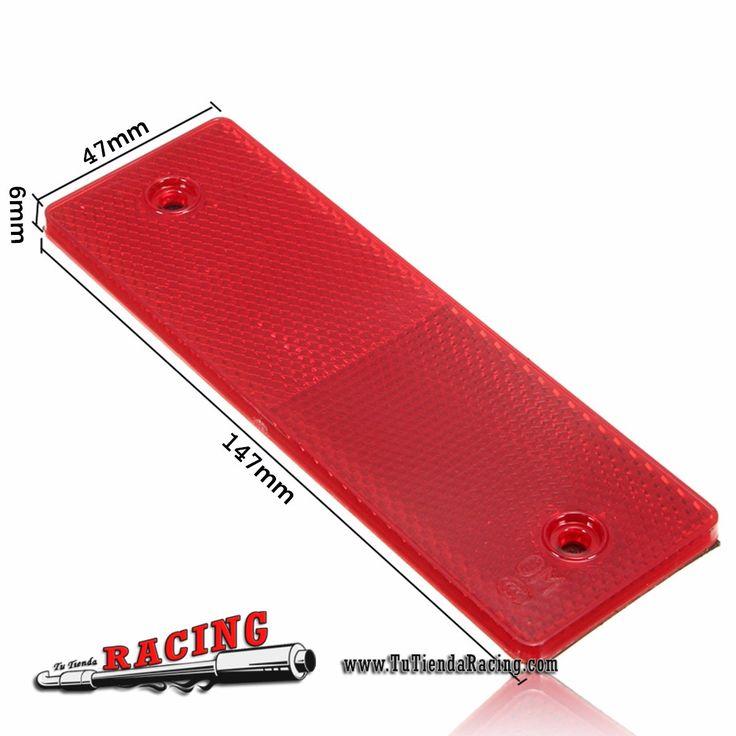 2,96€ - ENVÍO SIEMPRE GRATUITO - Pegatinas Reflectantes Universales Color Rojo/Blanco para Seguridad de Camiones - TUTIENDARACING