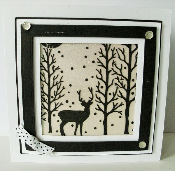 By Sue Baker. The Clearing stencil, Sparkle Medium background.