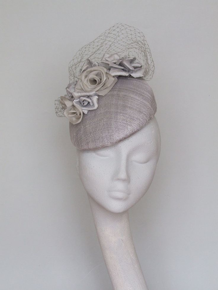 Silver Grey Fascinator by CoggMillinery on Etsy https://www.etsy.com/listing/466313284/silver-grey-fascinator