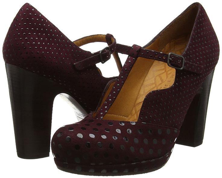 Chie Mihara Damen Ruana Pumps &Amp Heels mit T-Riemen, Purple (Dot Grape/Xuva Grape), 41 EU: Amazon.de: Schuhe & Handtaschen
