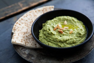 basil hummus: Basil Hummus, Chickpeas Recipes, Basil Recipes, Basilhummus, Snacks, Families Food, Hummus Recipes, Dips, Simply Recipes