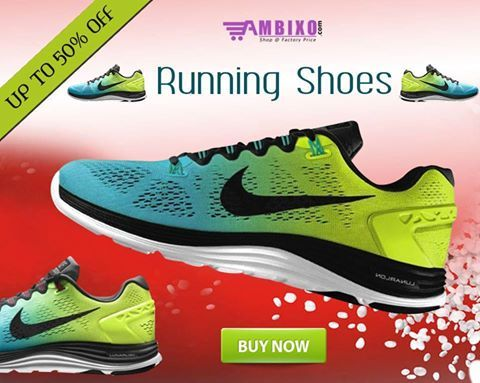 #Nike Running #Shoes on Sale of Up To 50% on Ambixo!