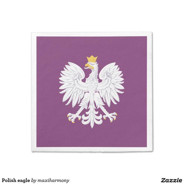 Polish eagle standard cocktail napkin