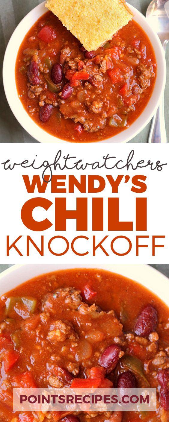 Wendy's Chili Knockoff (Weight Watchers SmartPoints)