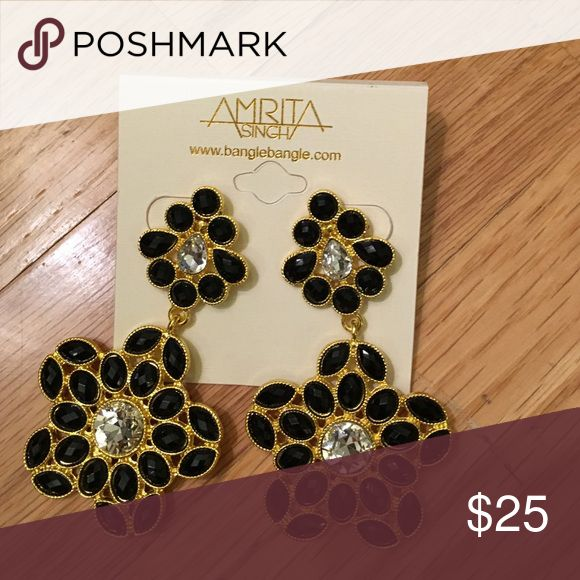Amrita Singh earrings NWT Black and gold earrings by Amrita Singh NWT Amrita Singh Jewelry Earrings