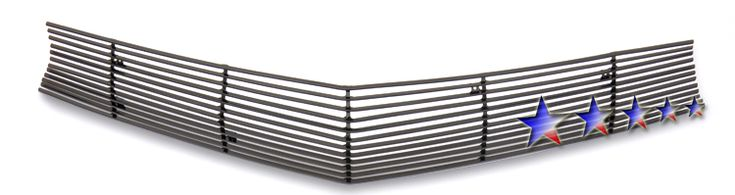 Chevrolet Camaro SS 2010-2012 Black Powder Coated Main Upper Black Aluminum Billet Grille
